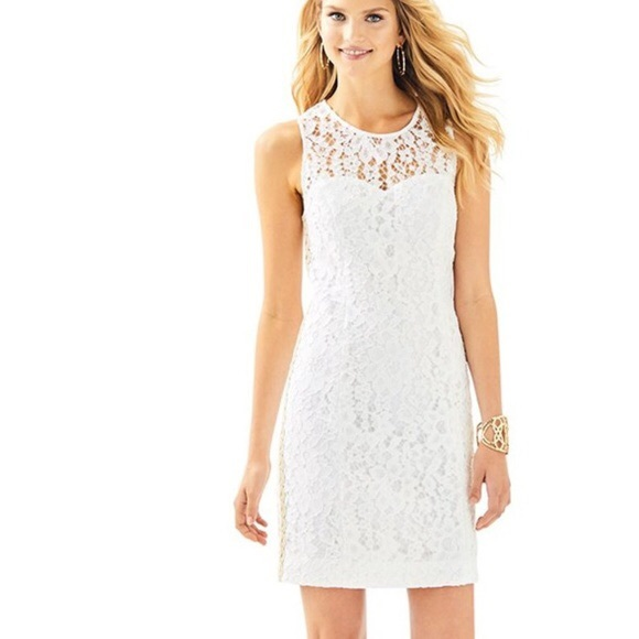 Lilly Pulitzer Dresses & Skirts - NWT Lilly Pulitzer Mila dress white gold 8 $228
